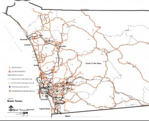 Proposed bike route sin 1976 Regional Transportation Plan.