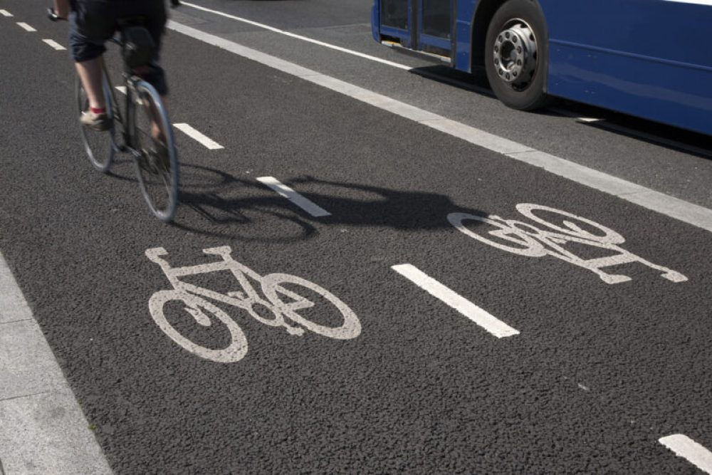 Bike Lane with Bus