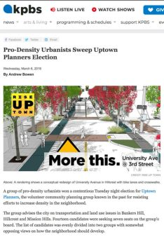 thumbnail of KPBS story on Rise Up Town