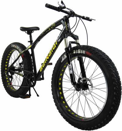 SAIGULA Fat Tire Bicycle Fat Mountain Bike 26 Inch 4.0 Tire BTM 7 Speed