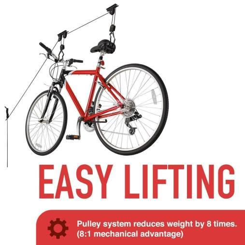Ceiling bike storage rack
