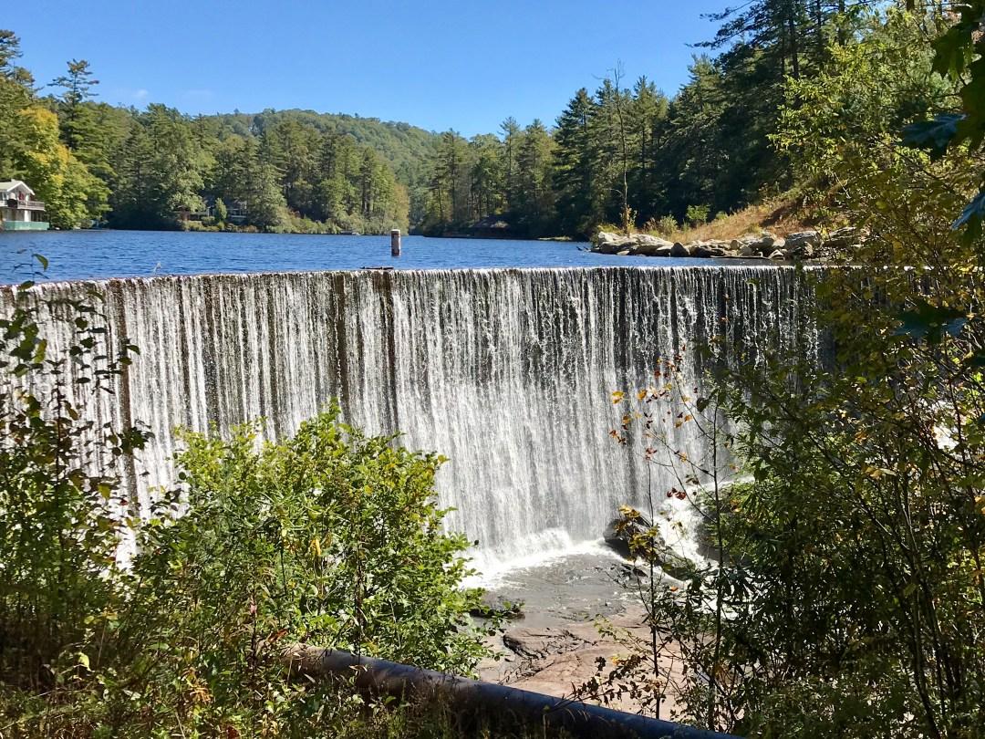 Lake Sequoyah Dam Falls