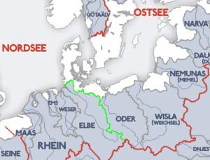 Wasserscheide Nord Ostsee