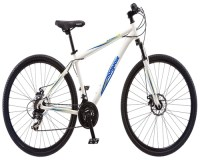 Mongoose Men's Banish 2.0 Hybrid Bike, White, 18-Inch/Medium