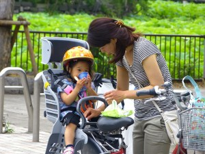 bike riding with babies