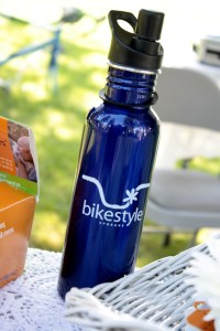 Bike Style Spokane stainless steel water bottle close-up by Andrea Parrish Geyser