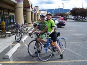 Eric Abbott and Barb Chamberlain on a bike ride.