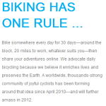 30 Days of Biking April 2013: Final Report