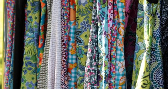 Close-up of Nuu-Muu and Ruu-Muu fabrics