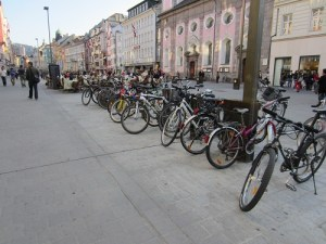 Bikes in Austria, March 2012. Photo by Betsy Lawrence.