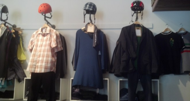 Bike-friendly dresses, jackets, shirts, and other outfits let you bike to work (or wherever you're going) and look professional when you arrive.