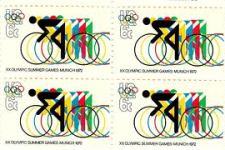 Olympic bike stamp, Munich games, 1972