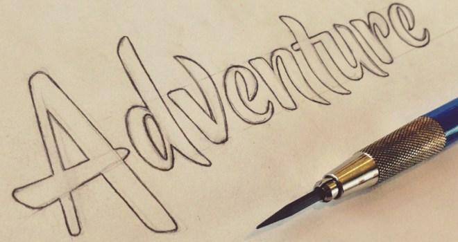 "Handwritten word ""Adventure"""
