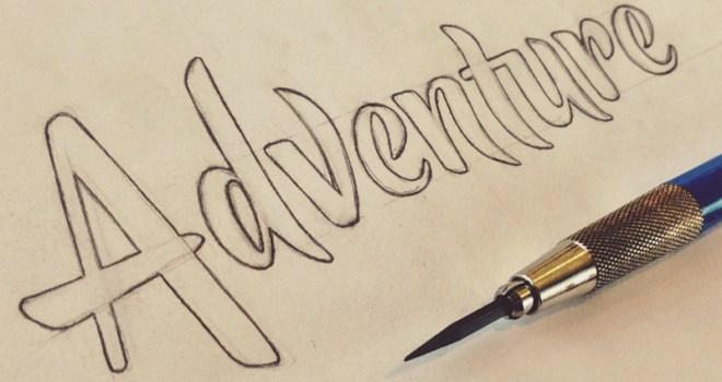 "Handwritten word ""Adventure"""