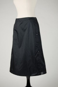 Wander Wrap waterproof rain skirt for biking, hiking, walking. Made by Wander Goods of Seattle, WA.