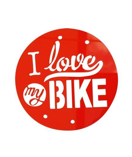 Placa 'I love my bike'