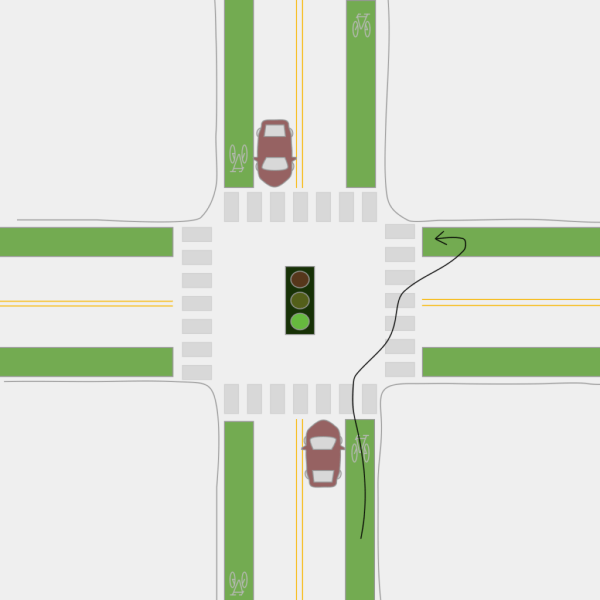 This Is Super Easy And Works Well But Make Sure To Watch Out For Pedestrians If The Crosswalk Is Full Just Stop In Front Of It Instead Of Cutting Through