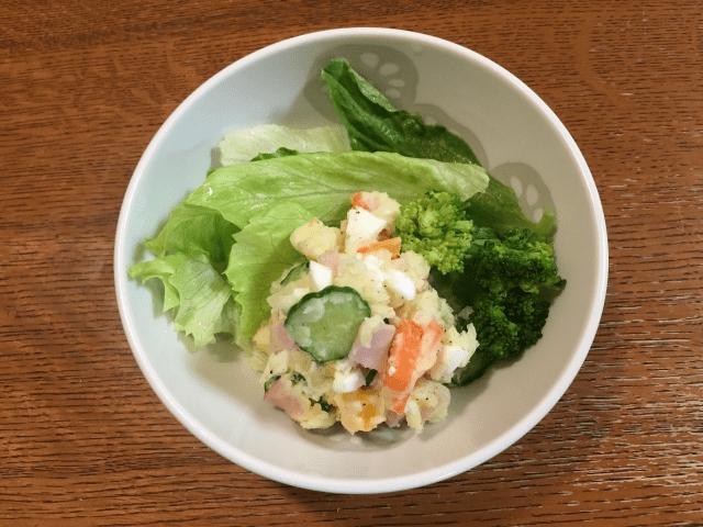 高野豆腐のポテトサラダ見立て
