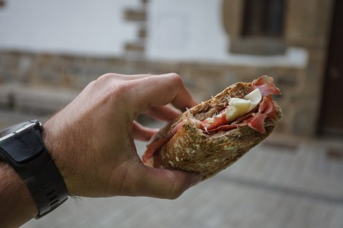 Jamón con Queso Sandwich in Zubiri after finding out the cook was taking a break