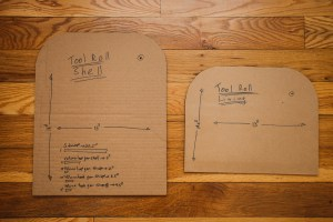 Bike Tool Roll Cardboard Pattern