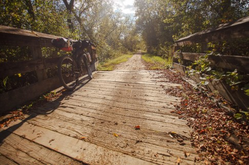 Rail trail on the way to Blue Mounds