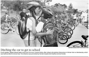 05.07.15_Orlando Sentinel_Ditching the car to get to school