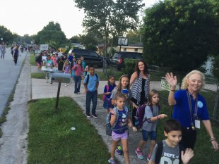 Hundreds of students across Orange County participate in International Walk to School Day