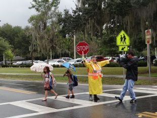 Orange County Sheriff's Office visits Conway Elementary with ped safety call to action