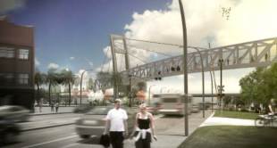 City of Orlando building pedestrian overpass across SR 50