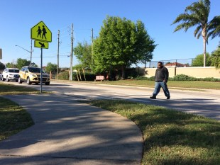 Crackdown at the crosswalks – school is out, and so are the cops