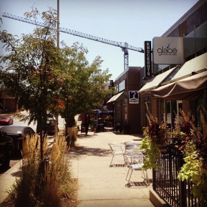Streets should include wide sidewalks that make the walk interesting and safe