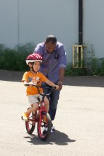 It takes a community to learn to ride a bike.