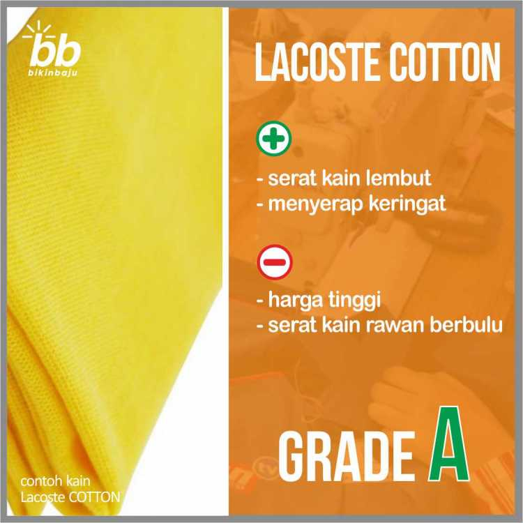 Bahan kain polo shirt Lacoste Cotton