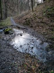 Zvolský potok crossing