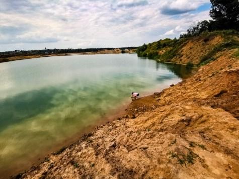 Testing water at Veletov sand pit