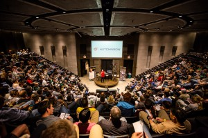 Sold out auditorium for the recent Southern California Cycling Summit; see below.