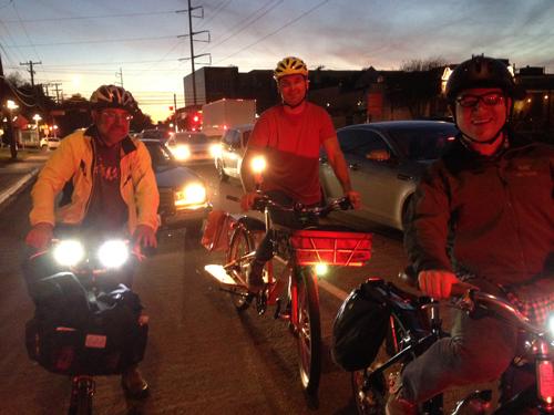 Evening rush hour on Oak Lawn Avenue in Dallas (December 2013)