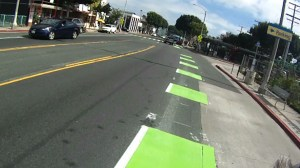 Intermittent patches of green lead up to intersections.