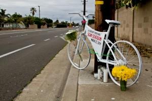 Ghost bike for Sean Severson; photo by Danny Gamboa.
