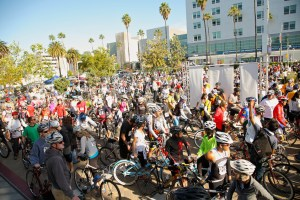 Crowds at start of Finish the Ride; photo courtesy of Finish the Ride.