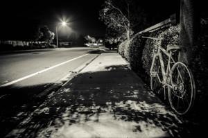Philip White ghost bike; photo courtesy of Ghost Bike Foundation.