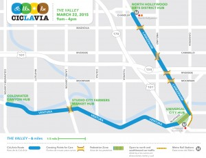 CicLAvia Valley Map