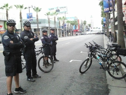 LAPD bike cops at the Oscars