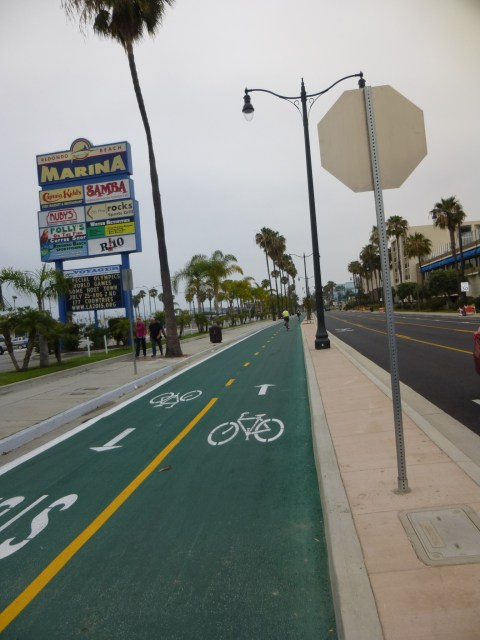 Photo by Jim Lyle; note the sharrows on the street to the right