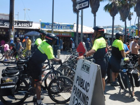 The LA Fire Department took to bikes to keep everyone safe