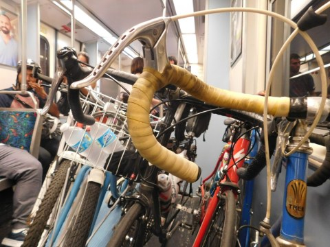 Bikes into the Expo Line headed to Culver City