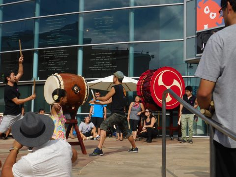 The Taiko drum performance was one of the highlights of the day