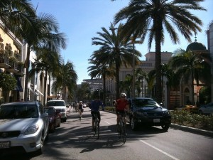 Riding abreast on Rodeo Drive, without breaking the law