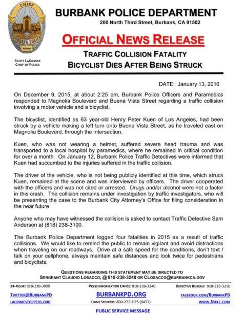 Kuen BPD Press Release