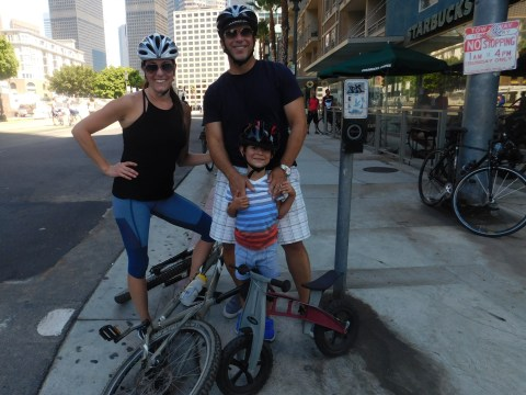 KCBS-2 anchor Jeff Vaughn is one of us, as he rode the full route with his charming family
